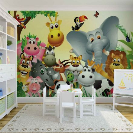 Jungle Animals huge wall wallpaper